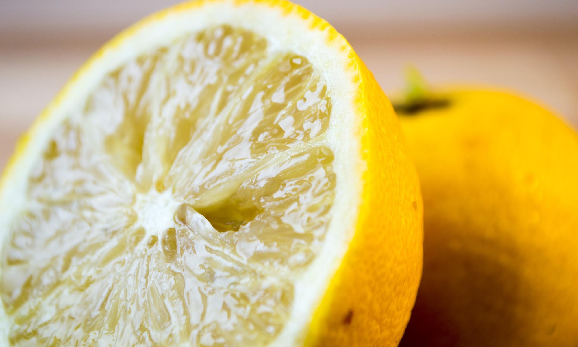 Lemons cut in half